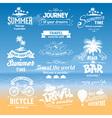 Summer labels vector image