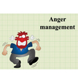 Anger management vector image vector image