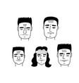 arnold face caricature set doodle line art vector image vector image