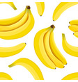 banana seamless pattern ripe bananas isolated on vector image vector image