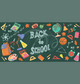 banner with inscription back to school vector image