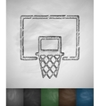 basketball hoop icon vector image vector image