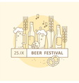 Beer Festival Party Menu Linear Elements vector image