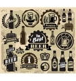 beer pub labels vector image vector image