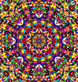 bright geometric seamless kaleidoscope pattern vector image vector image