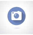 Camera icon flat style with long shadow vector image vector image
