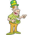 Cartoon Man Wearing a Derby vector image