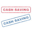 cash saving textile stamps vector image vector image
