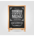 Chalk drawings Retro typography Coffee vector image vector image