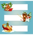 Christmas and New Year banner with gift xmas tree vector image