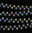 christmas lights isolated vector image vector image