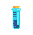 closeup of short cylinder test tube vector image vector image