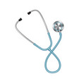 colored stethoscope icon medical equipment vector image