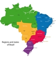 Colorful Brazil map vector image vector image