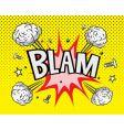 comic book bam vector image vector image