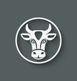 cow head symbol vector image