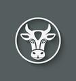 cow head symbol vector image vector image