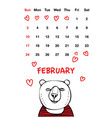 cute red nose bear vector image