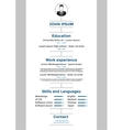 CV resume template vector image vector image