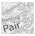 Dancing with the Stars from the Beginning Word vector image vector image