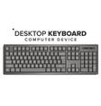 desktop keyboard 3d realistic classic vector image