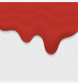 dripping blood or ketchup vector image