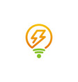 electric light bulb logo vector image vector image