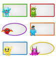 empty frame with little monster character vector image