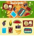 Family Weekend Picnic Set Summer Picnic vector image