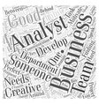 finding a business analyst Word Cloud Concept vector image vector image