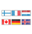 flags of the world icon in cartoon scribble style vector image vector image