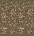 flower repeat texture nature seamless print vector image vector image