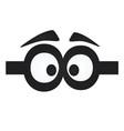 funny eye mask vector image vector image
