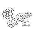 gear wheel and cog wheel icon vector image vector image
