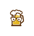 geek beer logo icon design vector image