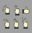Guide with basic gestures vector image