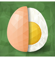 Half of abstract polygonal egg vector image