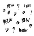 handwritten lettering for social media network vector image vector image