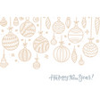 hanging outlined christmas ball with a floral vector image