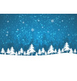 holiday winter background for merry christmas vector image vector image