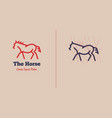 horse logo with text and title vector image