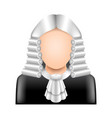 judge wig isolated on white vector image vector image