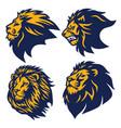 lion logo set esport sports mascot premium