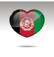 love afganistan symbol heart flag icon vector image
