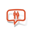 Love couple message sticker orange vector image vector image