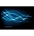 luminescent lines vector image vector image