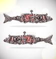 mechanical fishs vector image