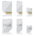 Memory card white vector image vector image
