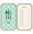 menu template with cutlery vector image vector image