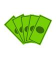 money dollar note symbol icon design vector image